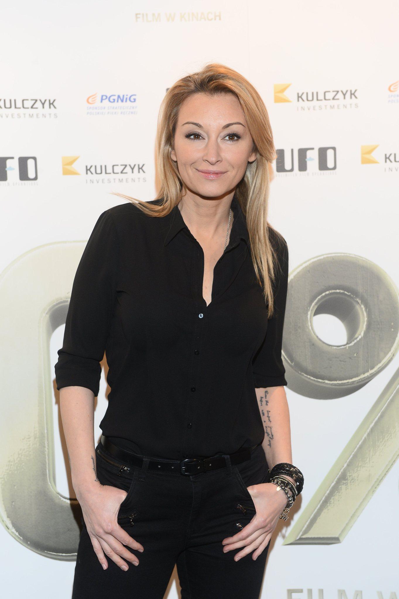 Martyna Wojciechowska na premierze filmu 110 %